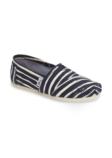 TOMS Striped Alpargata Slip-On (Women)