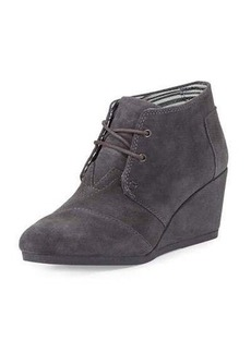 TOMS Shoes TOMS Suede Desert Wedge Bootie