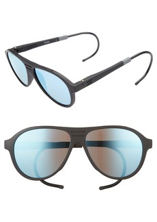 TOMS Shoes TOMS Traveler Zion 58mm Polarized Aviator Sunglasses