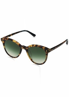 TOMS Shoes TOMS Women's Aaryn Round Sunglasses In BLONDE TORTOISE with A Deep Olive Gradient Lens