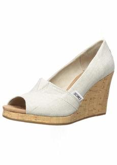 TOMS Shoes TOMS Women's Classic Espadrille Wedge Sandal natural crosshatch jacquard