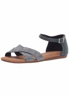 TOMS Shoes TOMS Women's Correa Sandal slub Chambray/Navy Synthetic Polyurethane  B Medium US