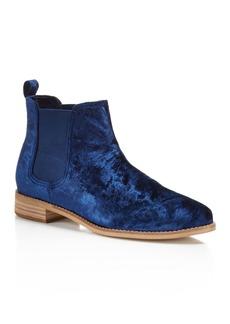 TOMS Shoes TOMS Women's Ella Velvet Chelsea Booties