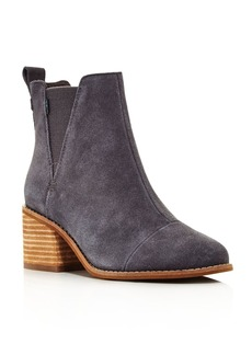 TOMS Shoes TOMS Women's Esme Round Toe Suede Chelsea Booties