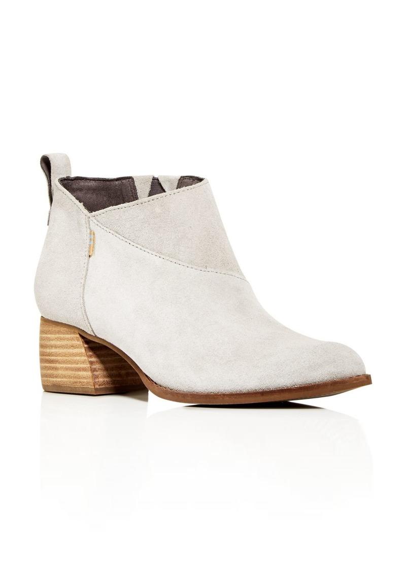 TOMS Shoes TOMS Women's Lelani Block-Heel Booties