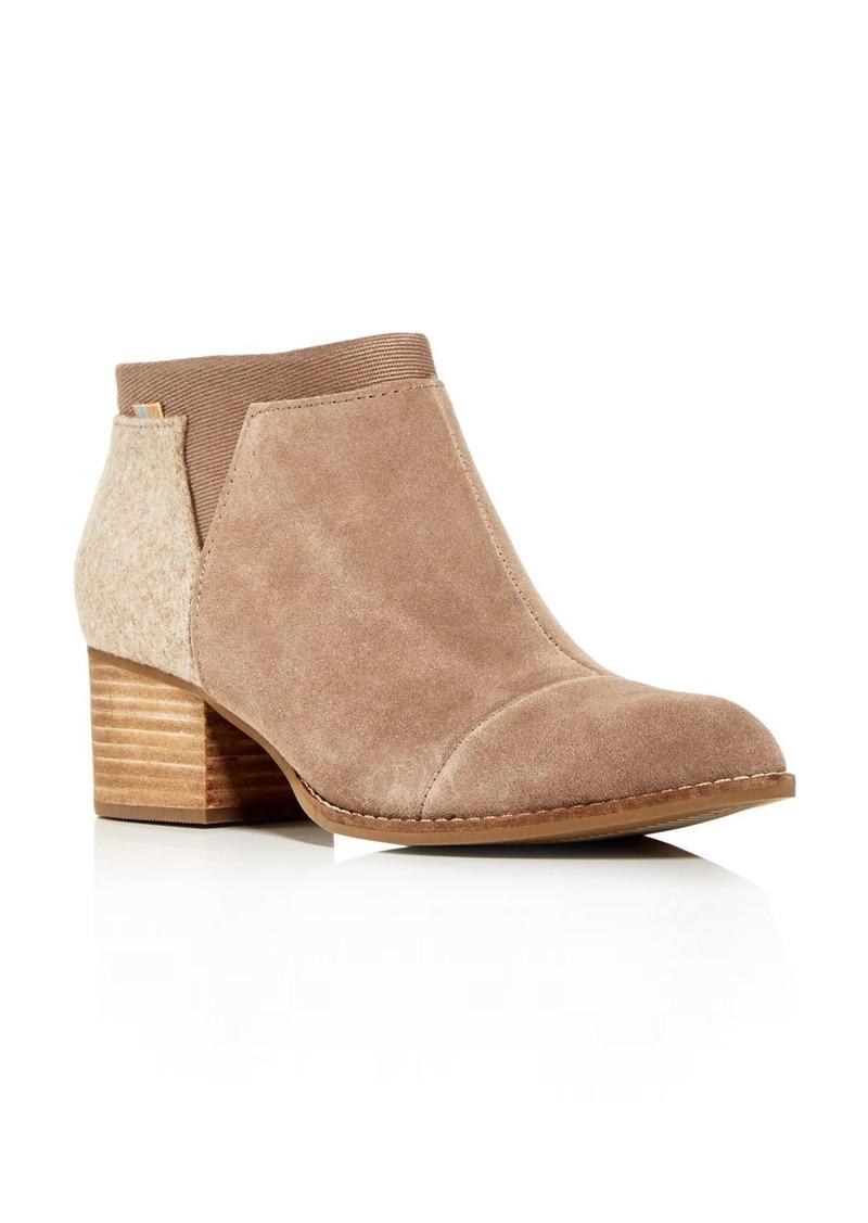 TOMS Shoes TOMS Women's Loren Block-Heel Booties