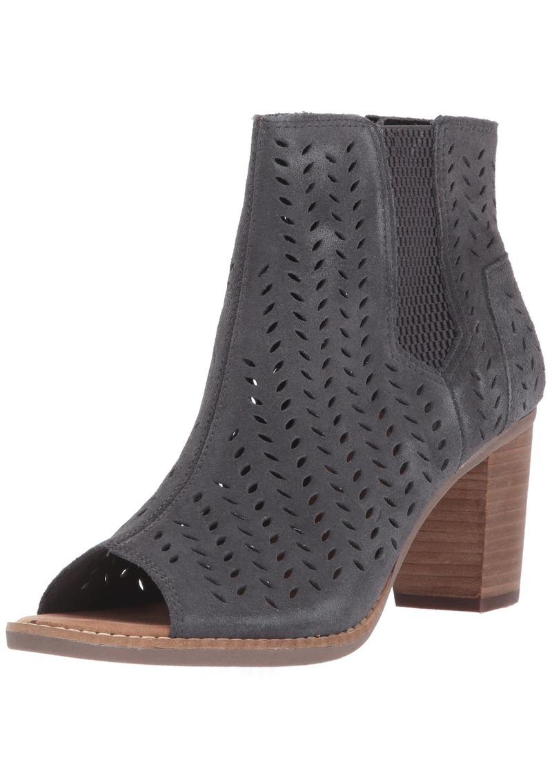 TOMS Shoes TOMS Women's Majorca Peep Toe Mid Calf Boot   Medium US