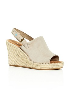 TOMS Shoes TOMS Women's Monica Slingback Wedge Espadrille Sandals