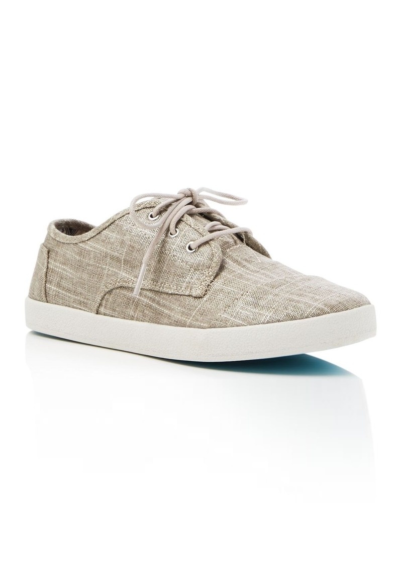 TOMS Shoes TOMS Women's Paseo Metallic Linen Lace Up Sneakers