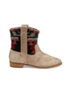 TOMS Shoes Tribal Desert Taupe Suede Women's Laurel Boots