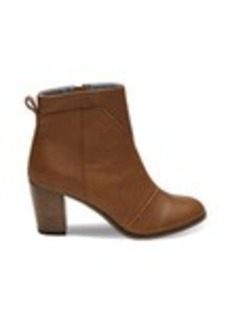 Warm Tan Leather Women's Lunata Booties