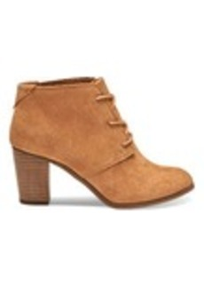 TOMS Shoes Wheat Suede Women's Lunata Lace-Up Booties