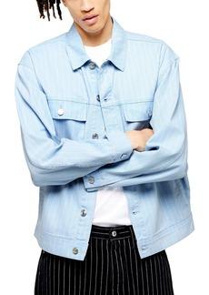 Topman Bleach Stripe Denim Jacket