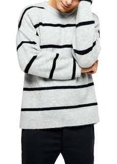 Topman Harlow Classic Fit Stripe Crewneck Sweater