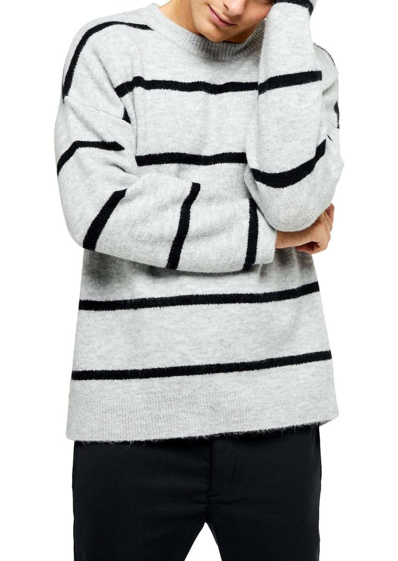 Topman Harlow Classic Fit Stripe Crewneck Sweater