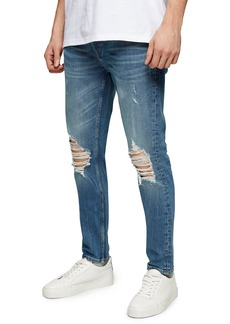 Men's Topman Cast Skinny Fit Ripped Jeans