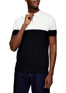 Men's Topman Colorblock Polo Sweater
