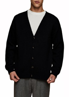 Men's Topman Fluffy Knit Classic Fit Cardigan