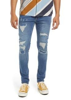 Men's Topman Rip & Repair Skinny Jeans