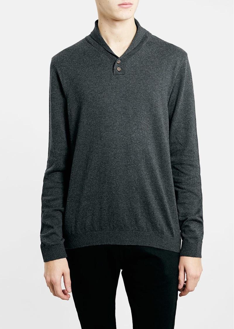 Men's Topman Shawl Collar Sweater