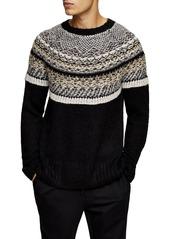 Men's Topman Yoke Detail Crewneck Sweater