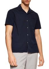 Topman Revere Slim Fit Seersucker Shirt