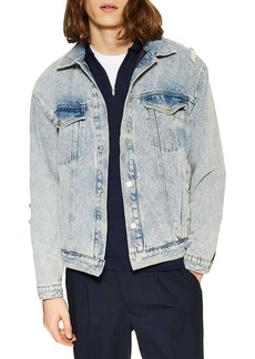 Topman Reversible Denim Trucker Jacket
