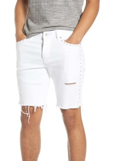 Topman Ripped Studded Skinny Shorts