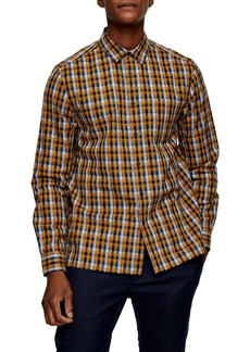 Topman Slim Fit Button-Up Flannel Shirt