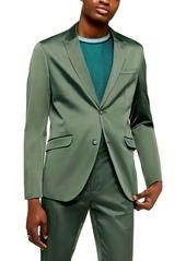 Topman Slim Fit Satin Suit Jacket