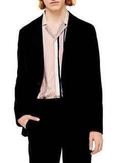 Topman Slim Fit Solid Jersey Blazer