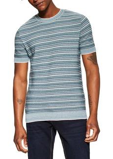 Topman Stripe Short Sleeve Sweater