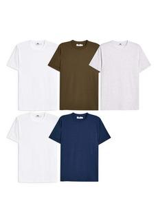Topman 5-Pack Classic Fit T-Shirts