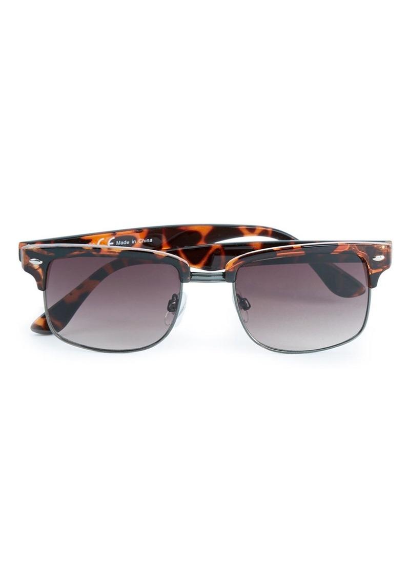 Topman 50mm Square Sunglasses