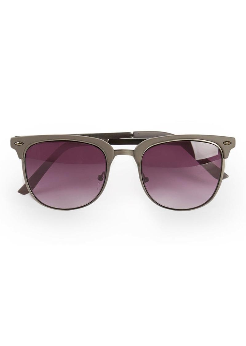 Topman 52mm Half Frame Sunglasses