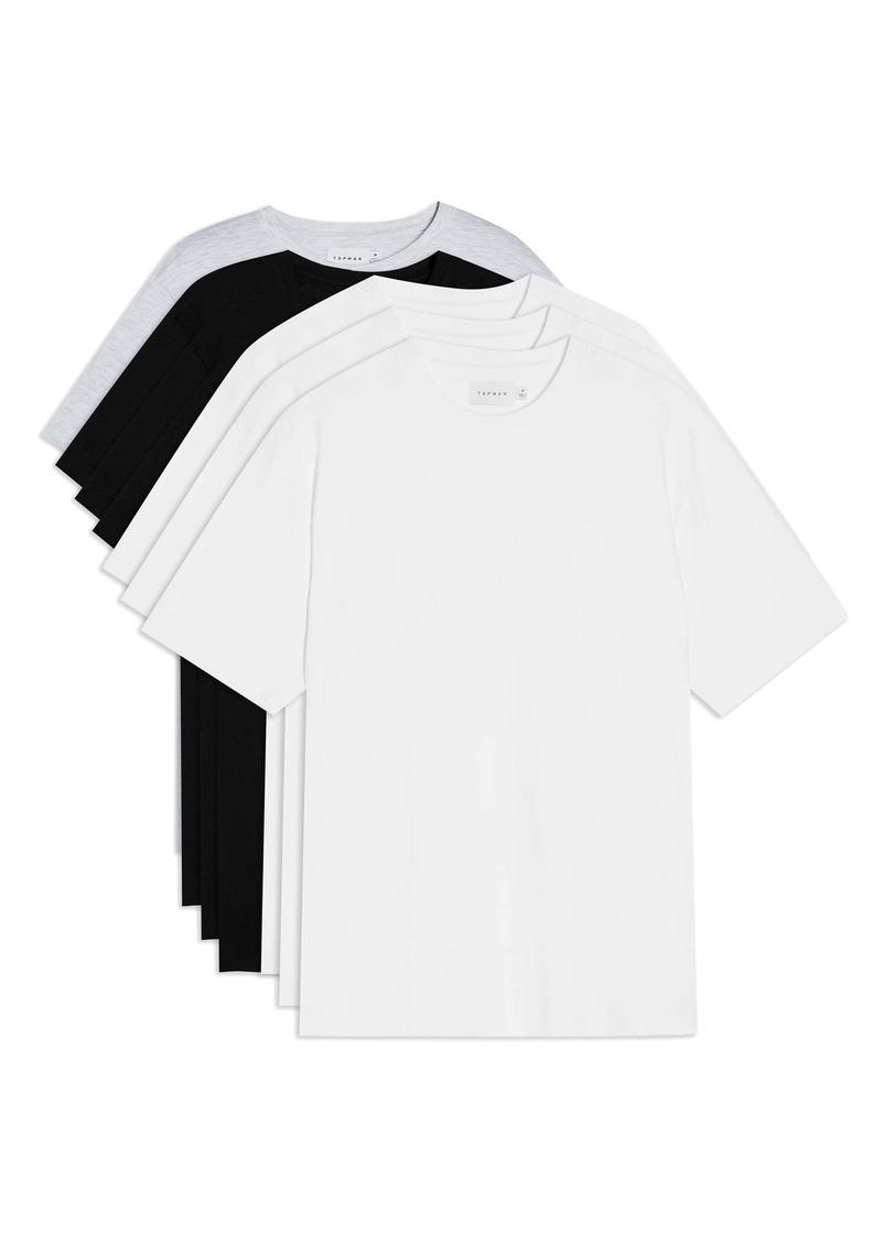 Topman Assorted 7-Pack Crewneck T-Shirts