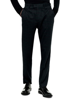 Topman Bampton Check Skinny Fit Suit Pants