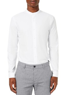 Topman Band Collar Skinny Fit Dress Shirt