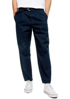 Topman Belted Tapered Trousers