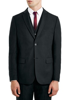 Topman Black Slim Fit Suit Jacket