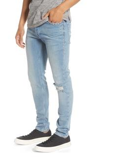Topman Bleach Stud Skinny Fit Jeans
