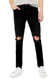 Topman Blowout Skinny Fit Jeans