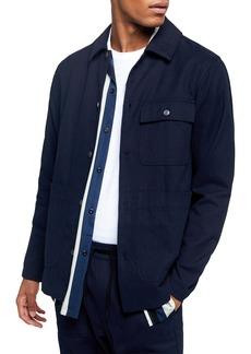 Topman Blue Button-Up Overshirt