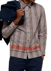 Topman Border Check Button-Up Shirt