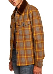 Topman Borg Lined Classic Wool Jacket