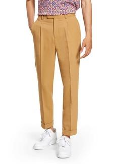Topman Bridge Skinny Fit Pleated Dress Pants
