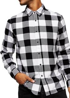 Topman Buffalo Check Button-Up Flannel Shirt
