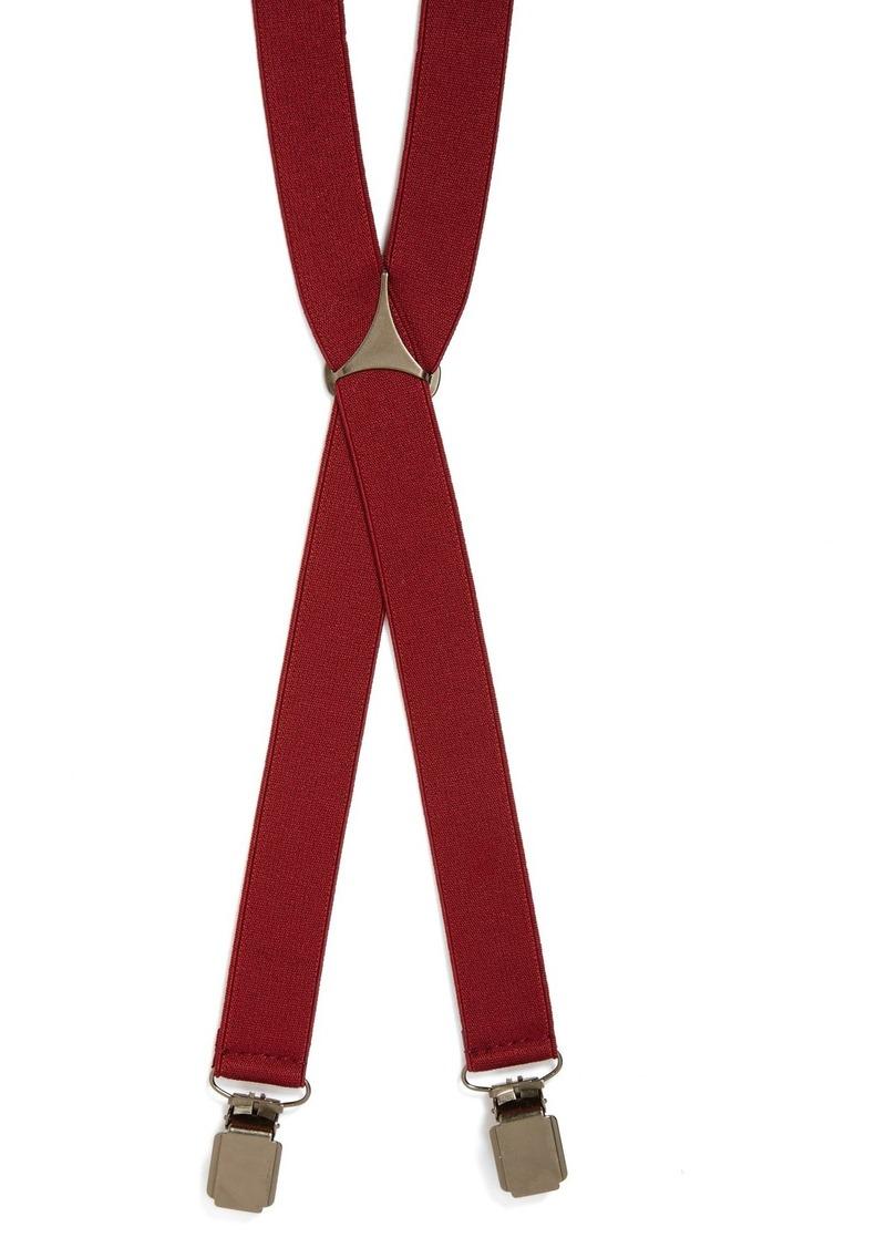 Topman Burgundy Suspenders