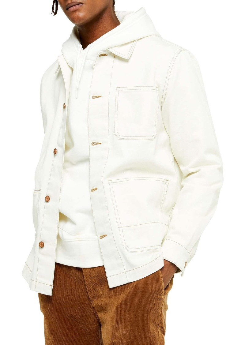 Topman Button-Up Denim Overshirt