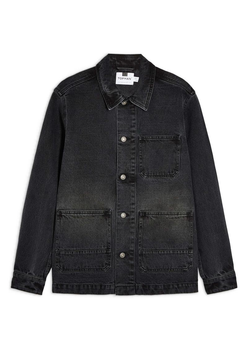Topman Button-Up Denim Overshirt